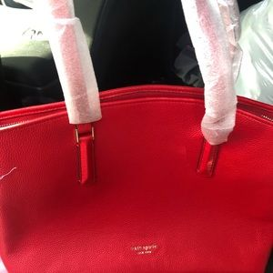 Kate Spade red purse and wallet